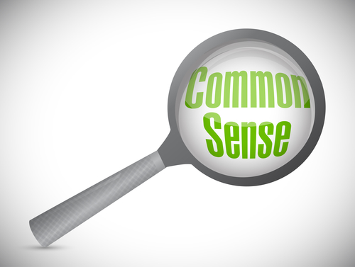 Common Sense Magnify Search Illustration Design Over A White Background